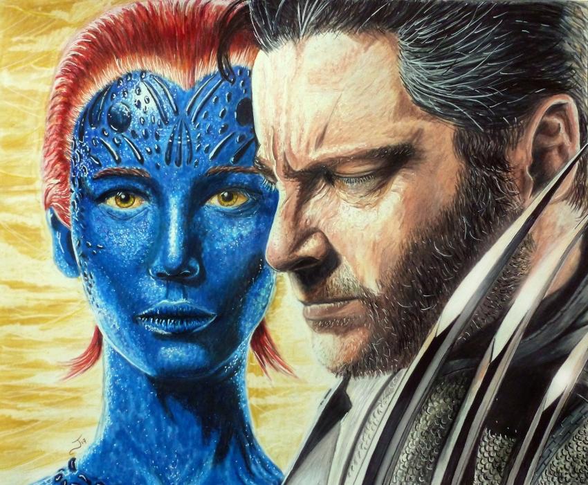 Mystique (X-Men), Wolverine by jejelink